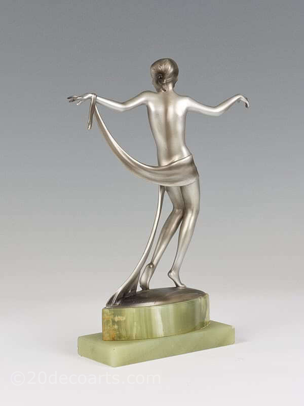 20th Century Decorative Arts |Josef Lorenzl dancer  Art Deco bronze figure photo 3