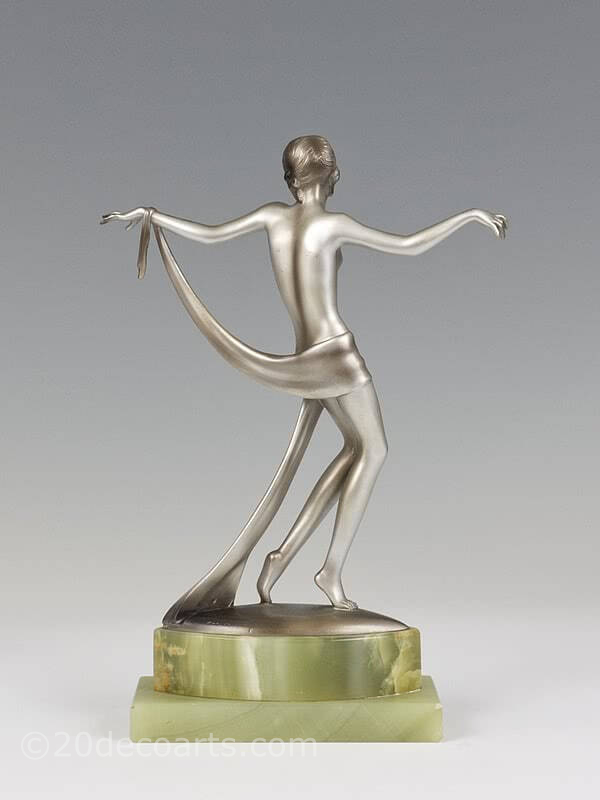 20th Century Decorative Arts |Josef Lorenzl dancer  Art Deco bronze figure photo 4