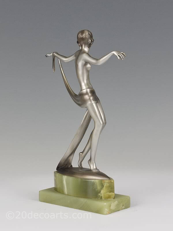 20th Century Decorative Arts |Josef Lorenzl dancer  Art Deco bronze figure photo 5