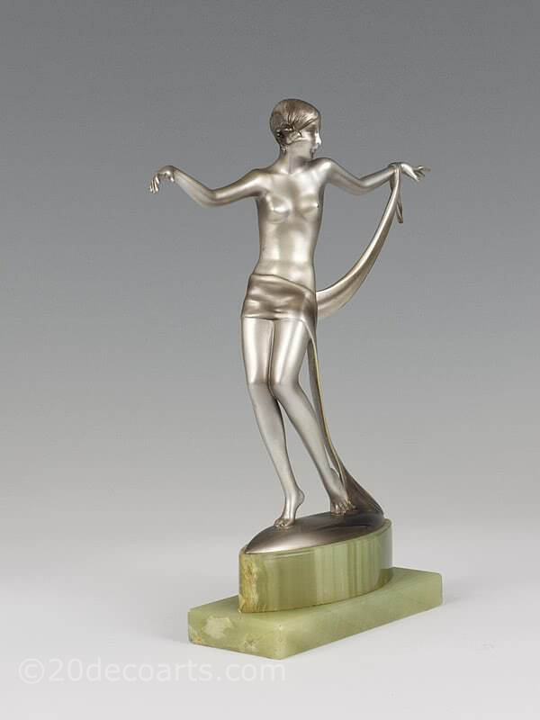 20th Century Decorative Arts |Josef Lorenzl dancer  Art Deco bronze figure photo 6