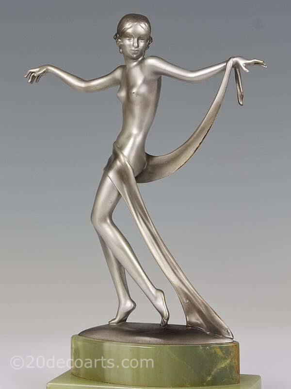 20th Century Decorative Arts |Josef Lorenzl dancer  Art Deco bronze figure photo 7