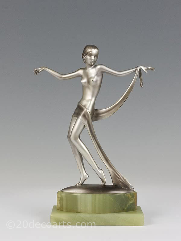 20th Century Decorative Arts |Josef Lorenzl dancer  Art Deco bronze figure photo 1