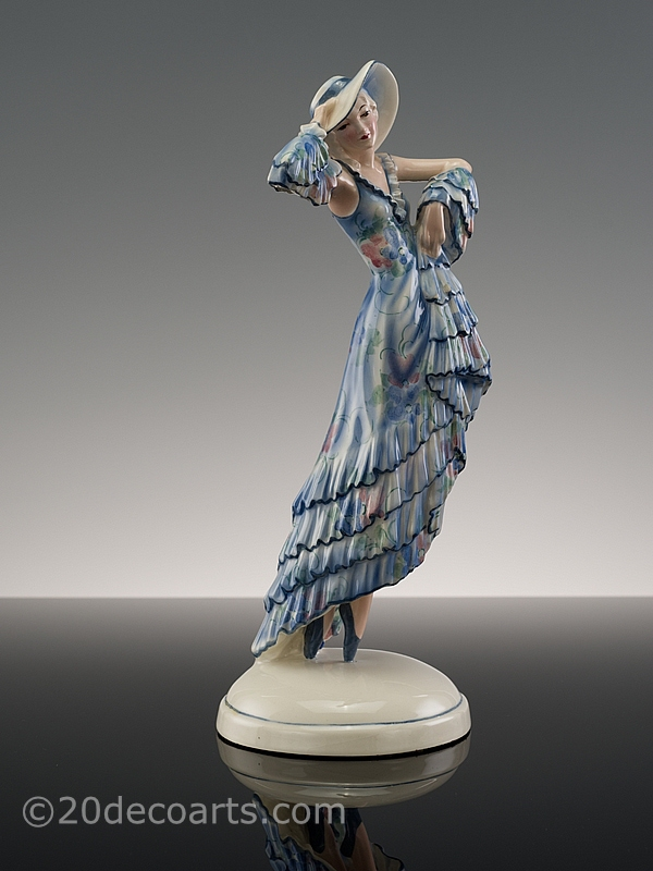 Josef Lorenzl for Goldscheider Art Deco figurine