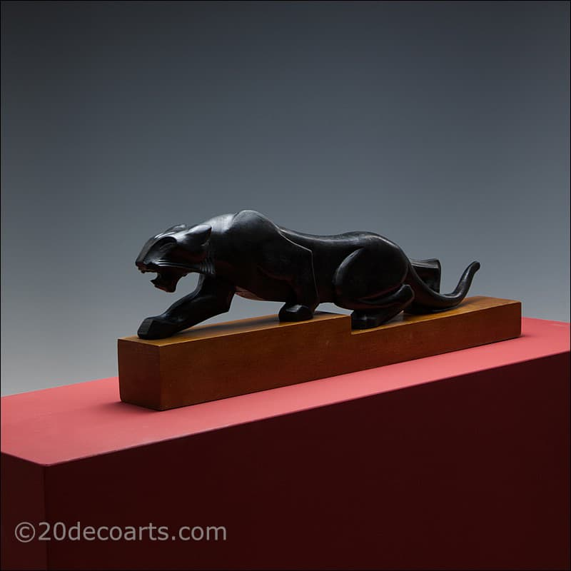 Art Deco Tiger panther sculpture, France circa 19301