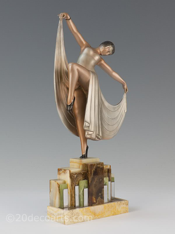 art deco spelter 1930s figure