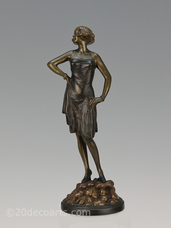 bruno zach art deco erotic bronze
