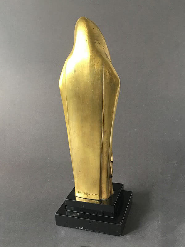 Demetre Chiparus - An Art Deco gilt bronze statue of the Madonna and Child circa 1925