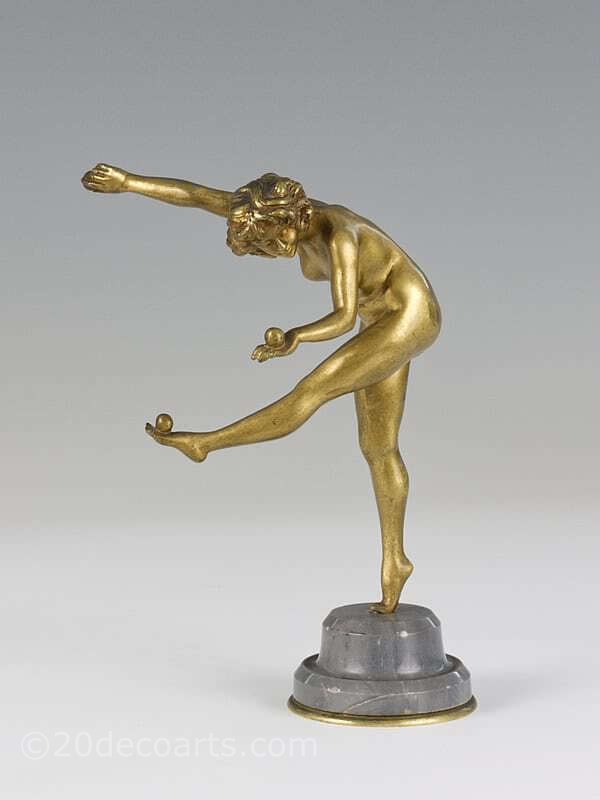 Claire Colinet - An Art Deco bronze figure, France circa 1920s entitled Juggler