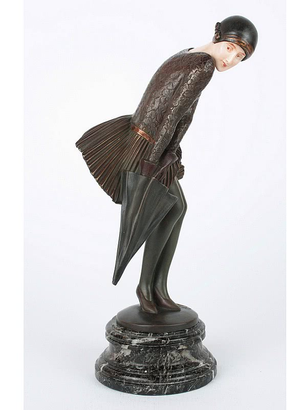 20th Century Decorative Arts |Claire Colinet - Art Deco Bronze and Ivory Figure