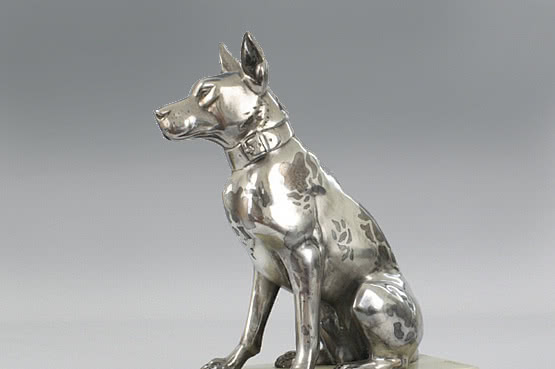 ☑️ 20th Century Decorative Arts | Rochard art deco great dane dog