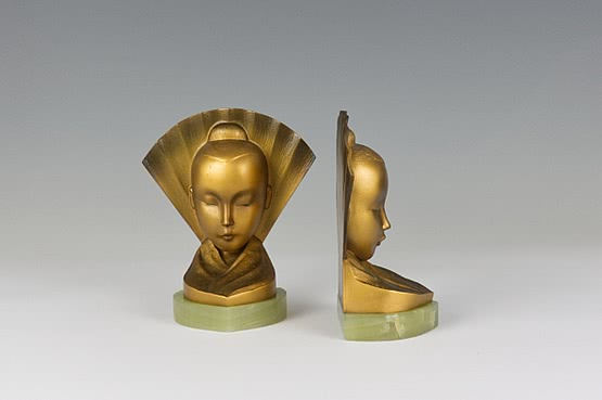 ☑️ austrian art deco bronze bookends
