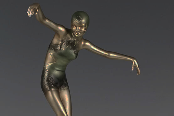 ☑️ Art Deco Lorenzl Bronze Statue Dorissa Nelova For Sale