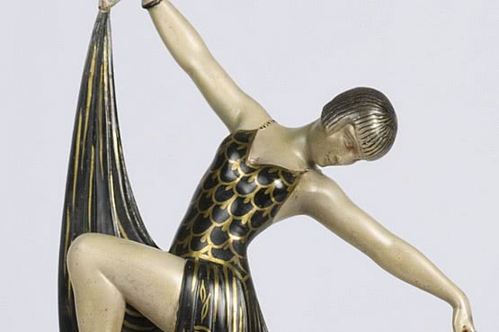 ☑️ 20th Century Decorative Arts |art deco bronze statue figure 1930s