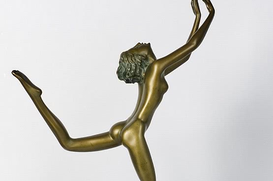☑️ 20th Century Decorative Arts |josef lorenzl art deco bronze  statue 1920s 1930s