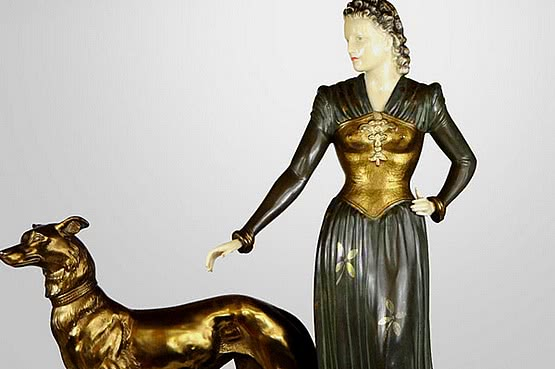 ☑️ 20th Century Decorative Arts |art deco menneville spelter