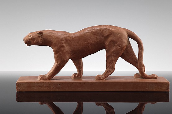 ☑️ 20th Century Decorative Arts | Art Deco Panther Sculpture for sale