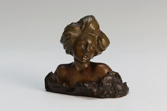 ☑️ 20th Century Decorative Arts |French Art Nouveau bronze sculpture bust