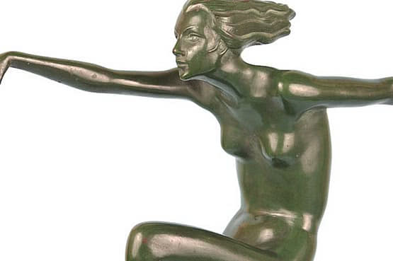 ☑️ 20th Century Decorative Arts |art deco lorenzl bronze - speed