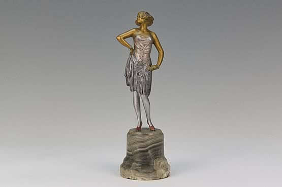 ☑️ 20th Century Decorative Arts | Bruno Zach Art Deco Statue 1930s