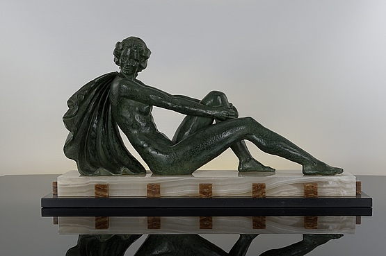 ☑️ 20th Century Decorative Arts |art deco cipriani spelter figurine