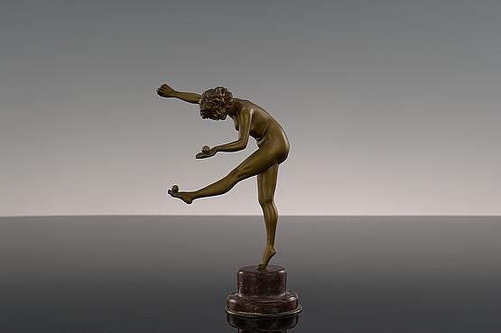 ☑️ 20th Century Decorative Arts |Art Deco Colinet Bronze Statue For Sale