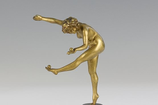 ☑️ 20th Century Decorative Arts |Art Deco Colinet Bronze Sculpture For Sale