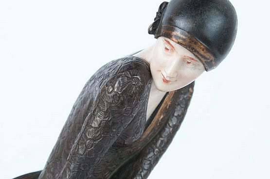 ☑️ 20th Century Decorative Arts | Claire colinet art deco bronze figurine