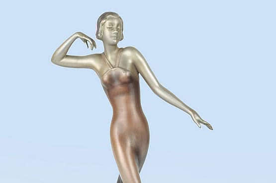 ☑️ 20th Century Decorative Arts |art deco lorenzl bronze