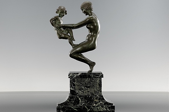 ☑️ 20th Century Decorative Arts | Faguays Antique Art Deco Figurine Bronze