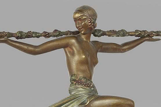 ☑️ 20th Century Decorative Arts | Pierre Le Faguays - Art Deco Statue 1930s