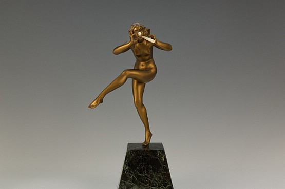 ☑️ 20th Century Decorative Arts |art deco figurine faguays french bronze
