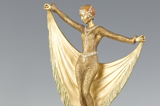 ☑️ 20th Century Decorative Arts |art deco lorenzl bronze figurine