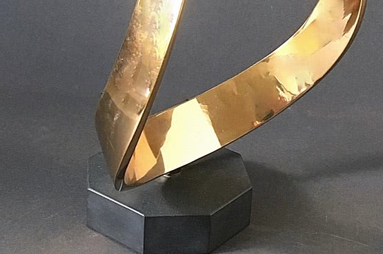 ☑️ 20th Century Decorative Arts | john robinson abstract bronze sculpture