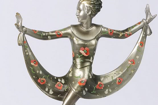 ☑️ 20th Century Decorative Arts | lorenzl art deco bronze for sale