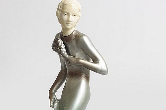☑️ 20th Century Decorative Arts |lorenzl bronze art deco figurine figures for sale