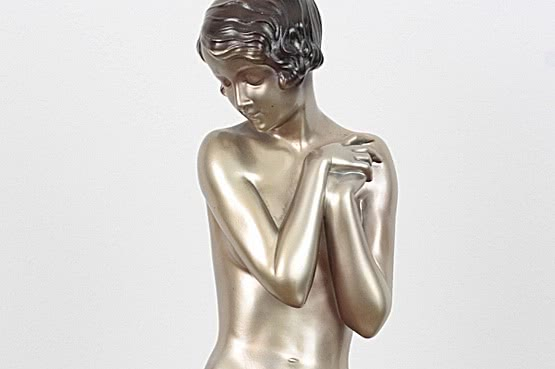 ☑️ 20th Century Decorative Arts |Lorenzl art deco bronze figure