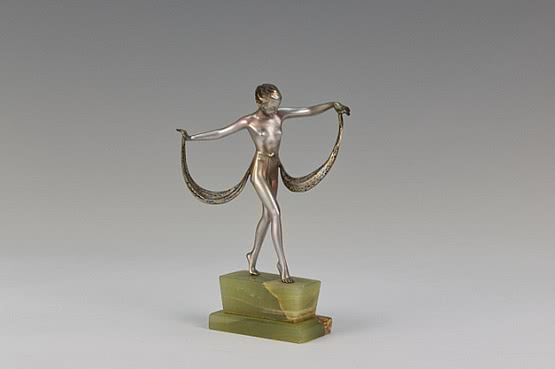 art deco bronze by josef lorenzl bronzefiguren dancer