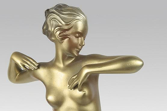 ☑️ 20th Century Decorative Arts |josef lorenzl art deco bronze figure