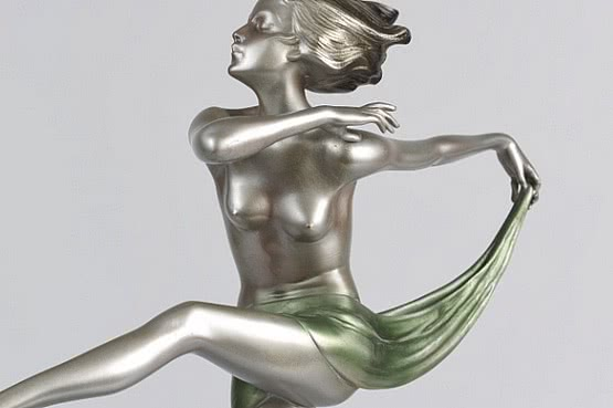 ☑️ 20th Century Decorative Arts |josef lorenzl art deco bronze statues 1930s dancer