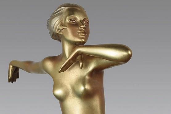 ☑️ 20th Century Decorative Arts |art deco lorenzl bronze dancer