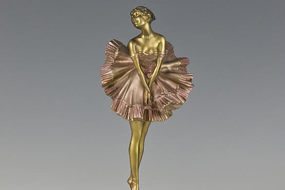 ☑️ 20th Century Decorative Arts |antique paul philippe art deco bronze ballerina figurine sculpture