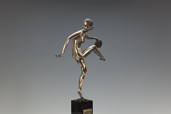 ☑️ 20th Century Decorative Arts | pierre laurel antique art deco bronze figurine dancer