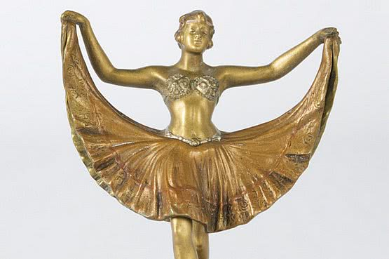 ☑️ 20th Century Decorative Arts |Vienna erotic bronze oriental dancer art nouveau