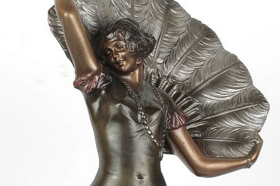 ☑️ 20th Century Decorative Arts |art deco bronze figure by bruno zach