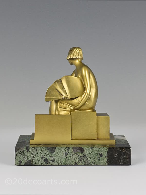 Sibylle may cubist art deco bronze statue 1925 y