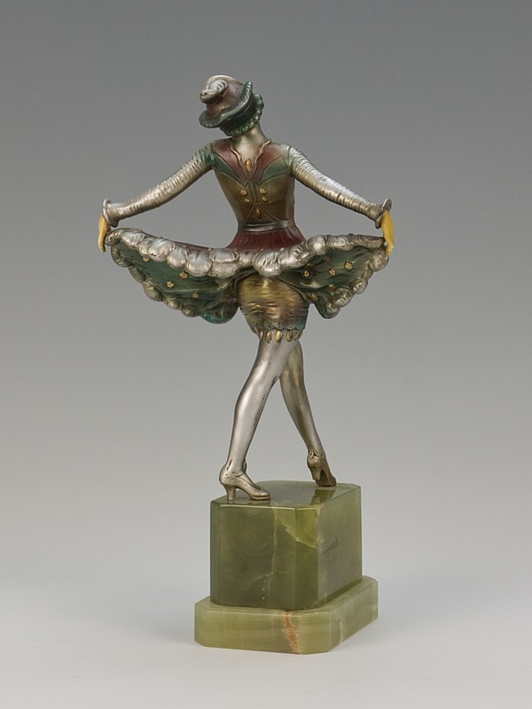 20th Century Decorative Arts |A German Art Deco Spelter and Ivorine Figure circa 1930