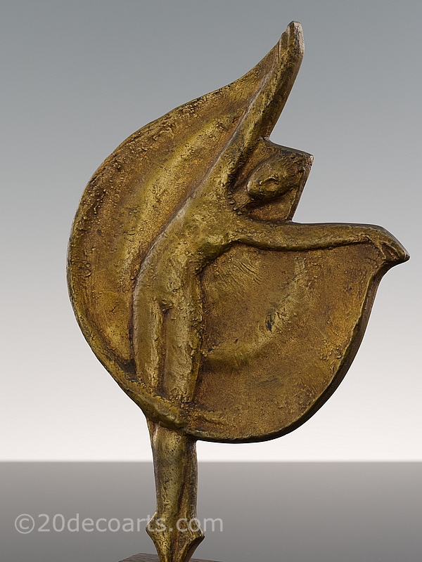 Jean Target - Ballet Dancer bronze sculpture, edited by Susse Frères Foundry Paris France circa 1950, depicting a dancer in motion,