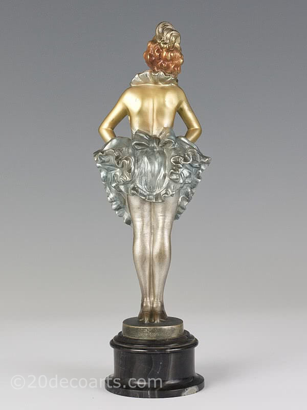 Josef Lorenzl 1920s art deco bronze figure for sale