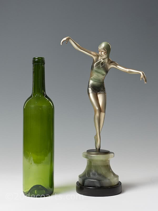 20th Century Decorative Arts |Josef Lorenzl - Art Deco Bronze Ivory figure