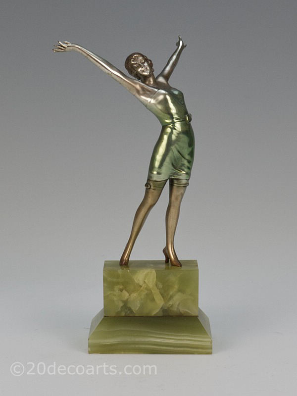 Josef Lorenzl art deco bronze figure for sale